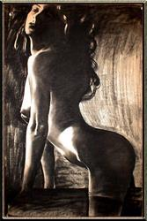 Art: Nude with Stockings by Artist David Mott