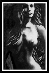 Art: Shadowed Nude 11-99 by Artist David Mott