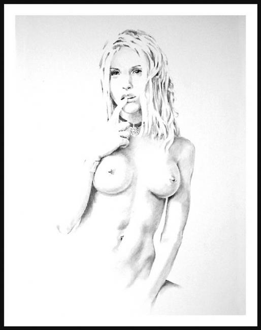 Art: Nude Study #2 March-04 by Artist David Mott