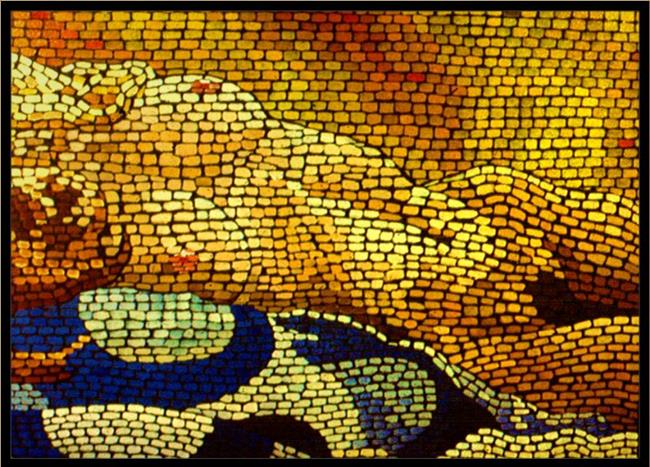Art: Mosaic Nude #2 by Artist David Mott