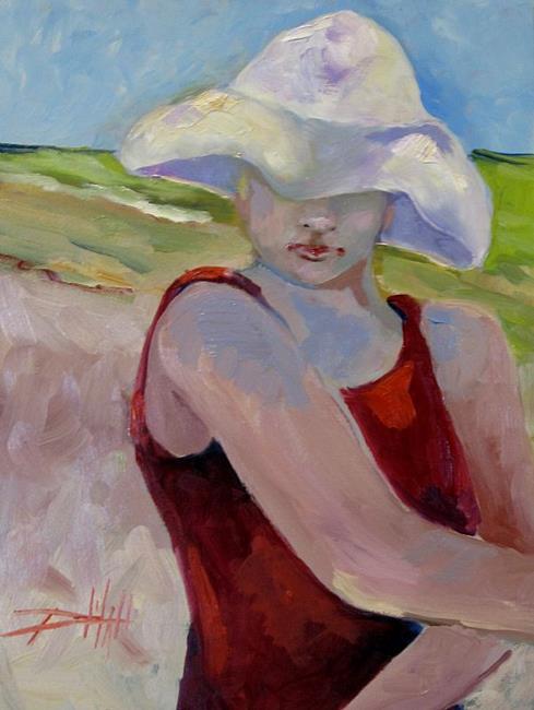 Art: Beach Diva-SOLD by Artist Delilah Smith