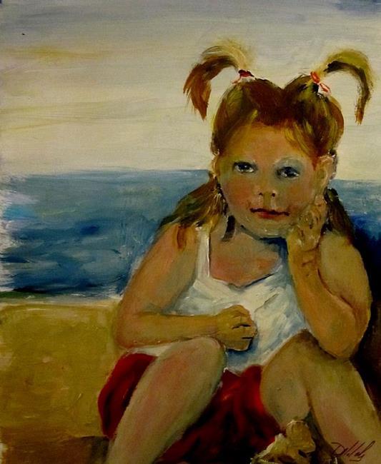 Art: Little Girl by Artist Delilah Smith