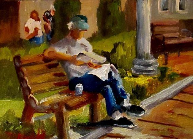 Art: Seated Figure by Artist Delilah Smith