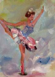 Art: Swan Lake-SOLD by Artist Delilah Smith