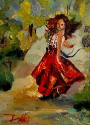 Art: Gypsy dance-sold by Artist Delilah Smith