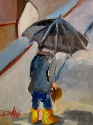 Art: Spring Rain-SOLD by Artist Delilah Smith