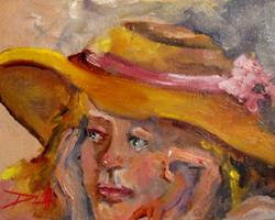 Art: The Straw Hat by Artist Delilah Smith