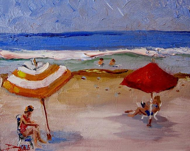 Art: At the Beach No.3 by Artist Delilah Smith