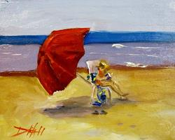Art: Beach Read No 3-sold by Artist Delilah Smith