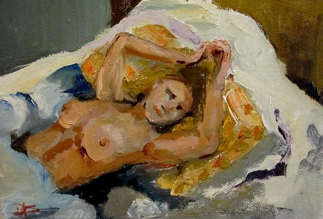 Art: Reclining Nude by Artist Delilah Smith
