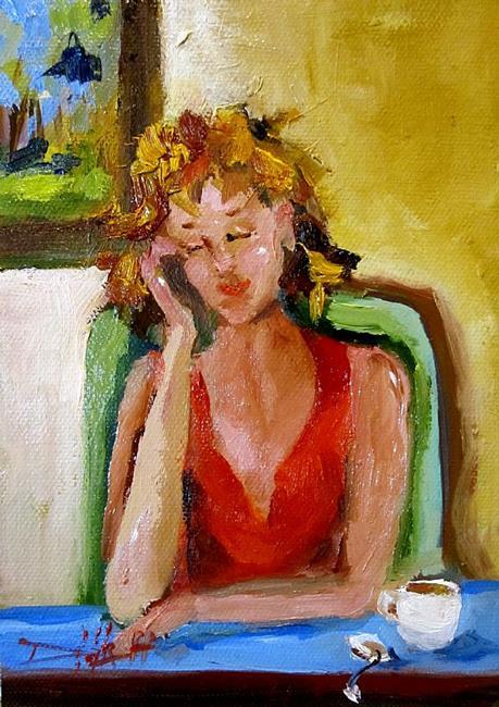 Art: Morning Tea by Artist Delilah Smith