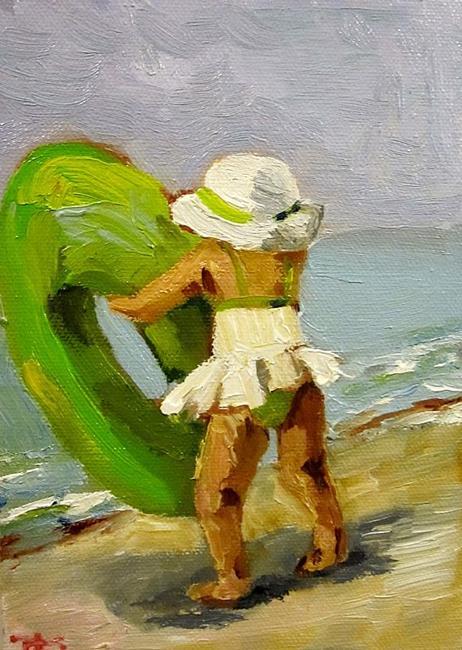 Art: Beach Baby by Artist Delilah Smith