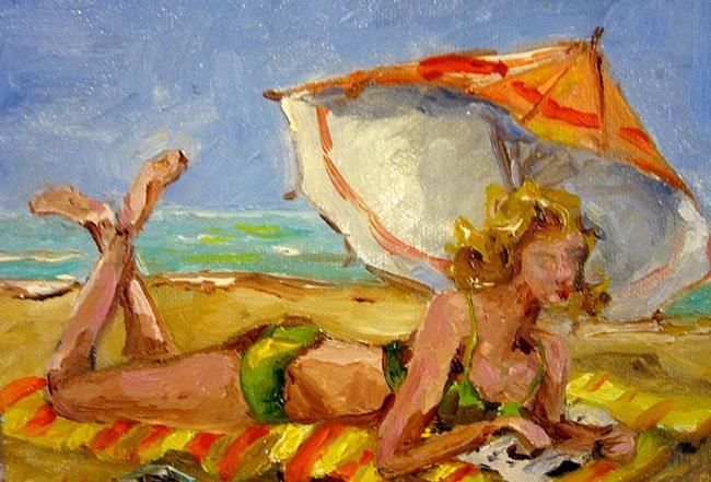 Art: Beach Read No. 2 by Artist Delilah Smith