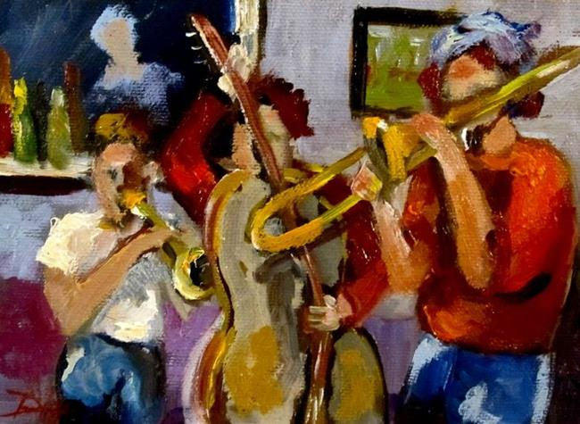 Art: Jazz Players by Artist Delilah Smith