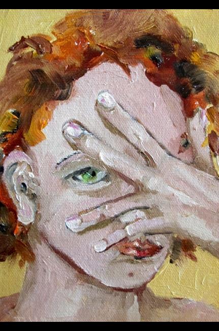 Art: No Peeking (562x800).jpg by Artist Delilah Smith
