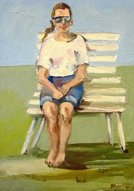 Art: Park Bench-sold by Artist Delilah Smith