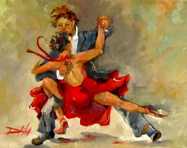 Art: Salsa Dancing by Artist Delilah Smith