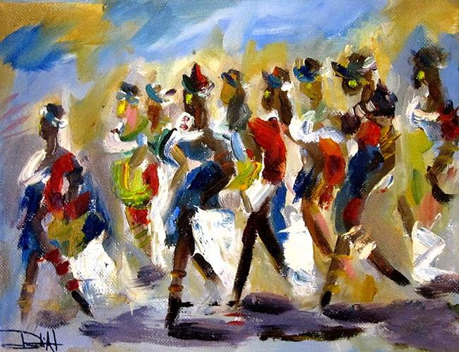 Art: Dancing Ladies by Artist Delilah Smith