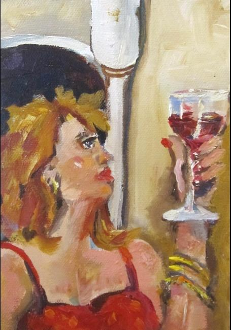 Art: Wine Connoisseur by Artist Delilah Smith