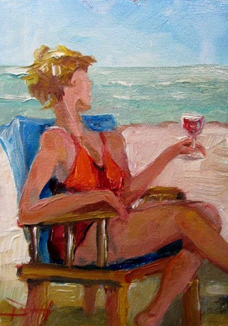 Art: Beach Diva No. 10-SOLD by Artist Delilah Smith