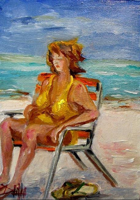 Art: Beach Diva No 11 by Artist Delilah Smith