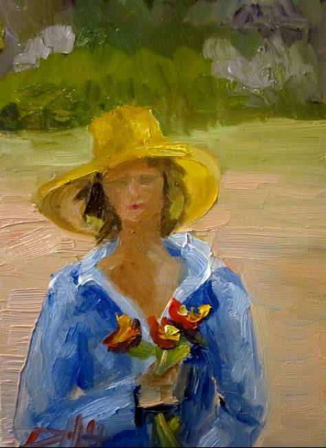 Art: Flowers in Hand by Artist Delilah Smith