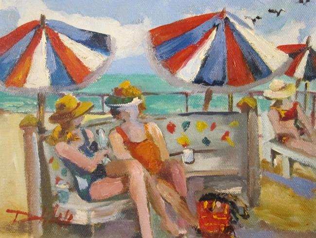 Art: Beach Talk by Artist Delilah Smith