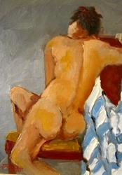 Art: Thinking Nude by Artist Delilah Smith