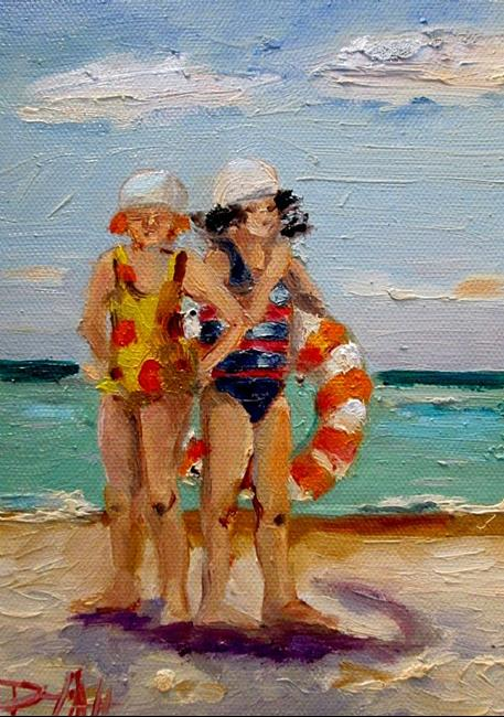 Art: Swimmers by Artist Delilah Smith
