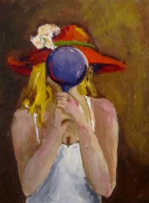 Art: Looking at Red Hat by Artist Delilah Smith