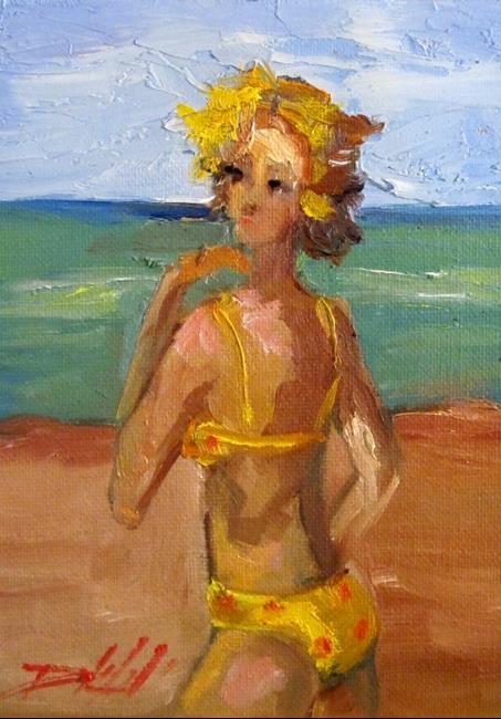 Art: Bikini Girl by Artist Delilah Smith