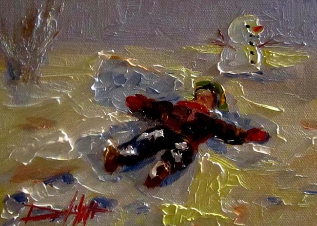 Art: Snow Angle-SOLD by Artist Delilah Smith