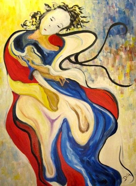 Art: Geisha in the Wind by Artist Delilah Smith