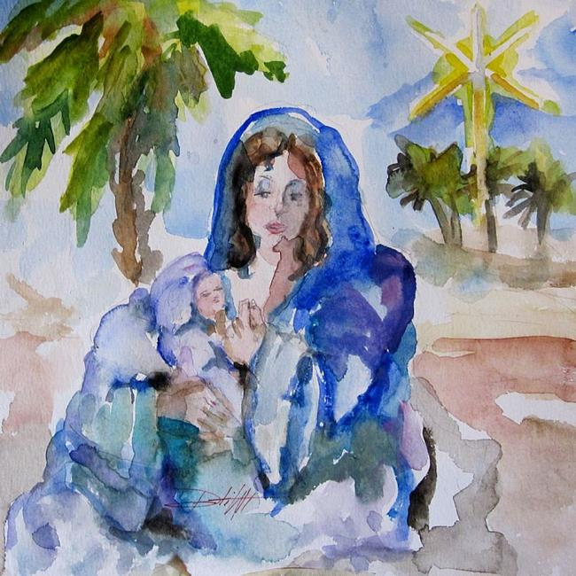 Art: Madonna and Child -Sold by Artist Delilah Smith