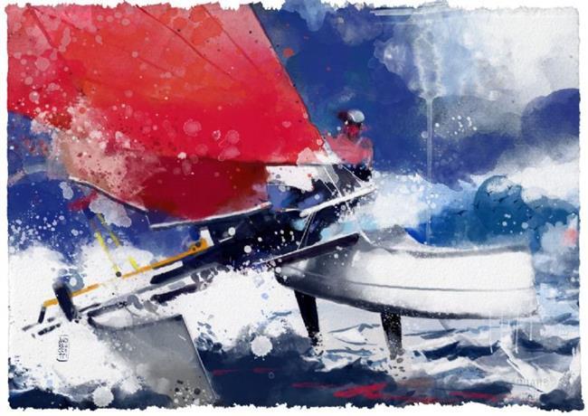 Art: agostino in regata by Artist Alessandro Andreuccetti