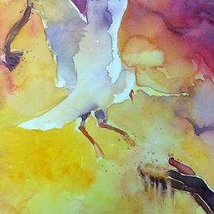Detail Image for art Feeding the seagulls