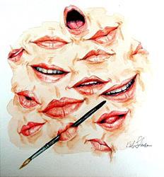 Art: Say Aaaaah...(NFS) by Artist Cathy  (Kate) Johnson