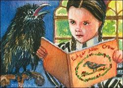 Art: Crow's Good Read by Artist Erika Nelson