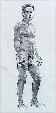 Art: Male Study by Artist Erika Nelson
