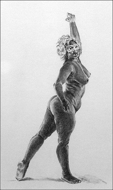 Art: Dancing Incognito by Artist Erika Nelson
