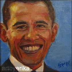 Art: Senator Barack Obama by Artist Erika Nelson