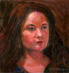 Art: Portrait of Karin Jurick by Artist Erika Nelson