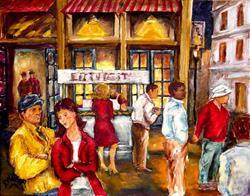 Art: Night Life - SOLD by Artist Diane Millsap