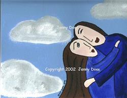 Art: Heavenly Embrace by Artist Jenny Doss