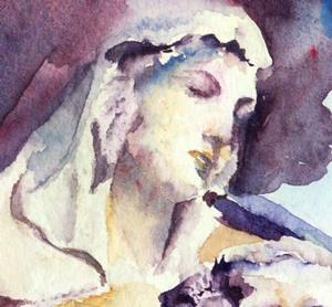 Detail Image for art Study of Madonna, Lincoln Cathedral