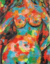 Art: Abstract Nude by Artist Ulrike 'Ricky' Martin