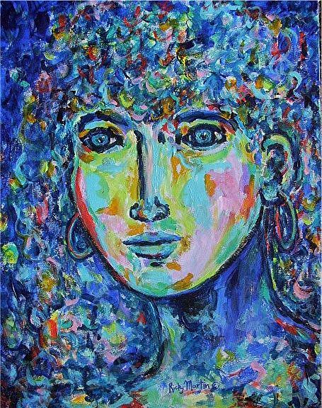 Art: Blue Lady by Artist Ulrike 'Ricky' Martin