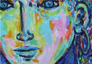Detail Image for art Blue Lady