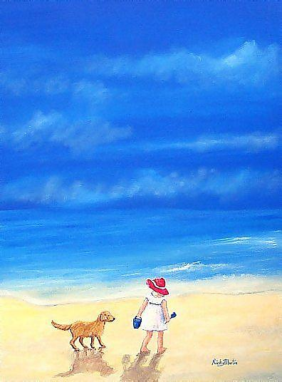 Art: Beach Pals - sold by Artist Ulrike 'Ricky' Martin