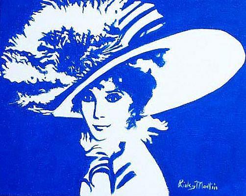 Art: Audrey Hepburn by Artist Ulrike 'Ricky' Martin